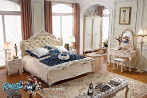 Kamar Set Jepara Mewah Ukiran Modern Putih Duco Terbaru