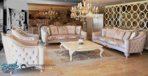 Model Set Sofa Tamu White Louis Mewah Terbaru Kualitas Terbaik
