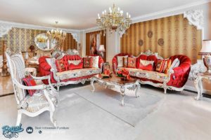 Set Kursi Tamu Sofa Classic Ferrara Duco Mewah Furniture Living Room