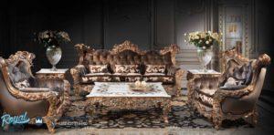 Set Kursi Tamu Sofa Ukiran Mewah Jepara Gold Bubari Klasik Mewah Terbaru