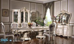 Set Meja Makan Klasik Mewah Ukiran Eropan Style
