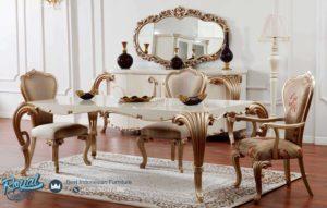 Set Meja Makan Mewah Ukir Klasik Eropan Model Terbaru
