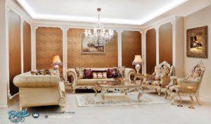 Set Sofa Ruang Tamu Mewah Classic Manchaster Ukir Jepara Terbaru