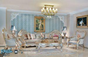 Set Sofa Tamu Leoardo Klasik Mewah Modern Model Terbaru