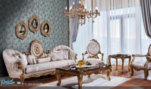 Set Sofa Tamu Puloti Takimi Klasik Furniture Mewah Terbaru Jepara