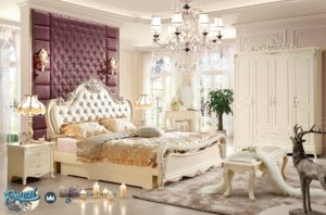 Set Tempat Tidur Mewah Putih Duco Modern Model Terbaru Mebel Jepara