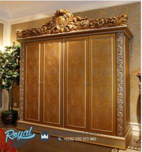 Almari Pakaian Mewah 4 Pintu Rococo Klasik Bedroom Set Terbaru
