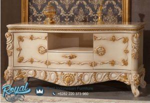 Bufet TV Mewah Arzu Klasikal Furniture Model Terbaru