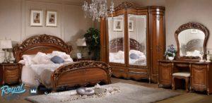 Set Kamar Tidur Allegro Kayu Jati Mewah Furniture Terbaru