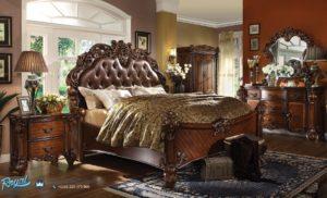 Set Kamar Tidur Jati Ukir Mewah Vendome Klasik Furniture Bedroom Set