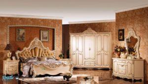 Set Kamar Tidur Mewah Classic Europe Bedroom Furniture Model Terbaru