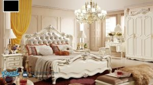 Set Kamar Tidur Mewah Duco Ukir Furniture Set Bedroom Terbaru
