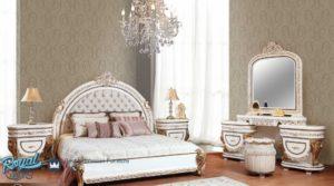 Set Kamar Tidur Mewah Elmas White Duco Model Furniture Terbaru