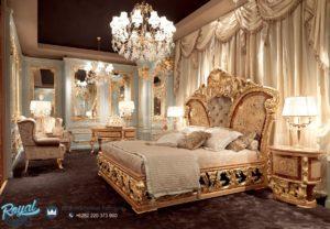 Set Kamar Tidur Mewah Golden Reflect Dipan Tempat Tidur Ukiran Terbaru