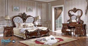 Set Kamar Tidur Mewah Jati Ukir Spalnja Barokko Klasik Bedroom Terbaru