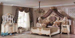 Set Kamar Tidur Mewah King Raules Model Furniture Jepara Terbaru