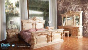 Set Kamar Tidur Mewah Seromi Klasik White Duco Terbaru