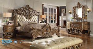 Set Kamar Tidur Mewah Ukir Super Bed Marbella Model Furniture Terbaru