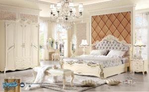 Set Kamar Tidur Mewah White Duco Europe Modern Design Furniture Terbaru