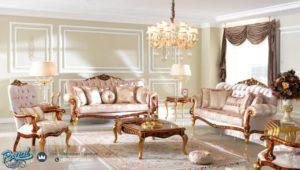 Set Kursi Tamu Sofa Mewah Golden Classic Furniture Mewah Terbaru