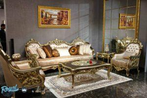 Set Kursi Tamu Sofa Mewah Ukiran Jepara Model Terbaru