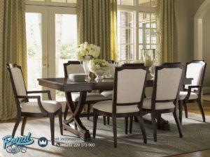 Set Meja Makan Kayu Jati Model Klasik Wooden Terbaru