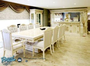 Set Meja Makan Klasik Mewah Istanbul Style Dining Room Terbaru