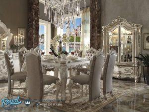 Set Meja Makan Mewah Acme Versailles White Dining Set Terbaru
