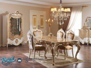Set Meja Makan Mewah Berguzar Klasik European Style Mewah Terbaru