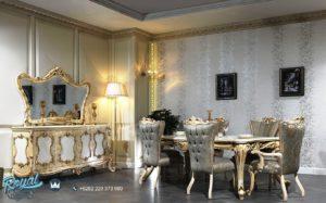 Set Meja Makan Mewah Bogazici Furniture Ruang Makan Mewah Terbaru