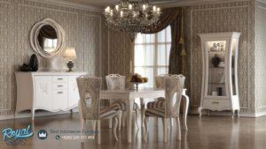 Set Meja Makan Mewah Indestian Model Furniture Dining Room
