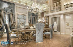 Set Meja Makan Mewah Luxury Furniture Dining Room Elegan Class Terbaru