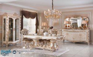 Set Meja Makan Mewah Milet Odasi Klasik Furniture Ukir Jepara Terbaru