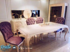 Set Meja Makan Mewah Zara Masko Furniture Ruang Makan Model Terbaru
