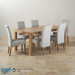 Set Meja Makan Minimalis Back Chairs Jati Mewah Terbaru