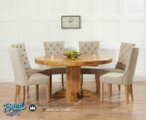 Set Meja Makan Minimalis Oak Modern Desain Model Mewah Terbaru