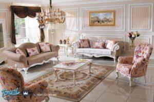 Set Sofa Tamu Mewah Safran Vintage Duco Furniture Living Room Terbaru
