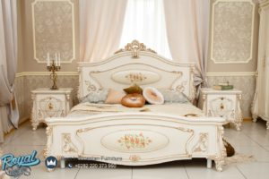 Set Tempat Tidur Mewah Ukiran Victorian Bedroom Europe Style
