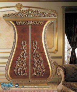 Almari 2 Pintu Renaissance Eksotik Lemari Pakaian Ukiran Mewah Terbaru