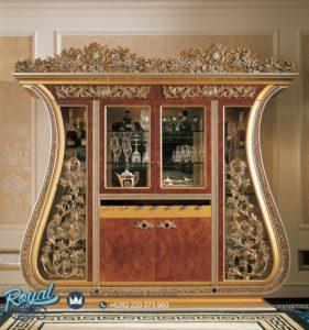 Almari Hias Mewah Ukiran Furniture Living Room Mewah Terbaru