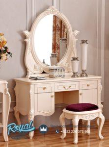 Meja Rias Mewah Duco Klasik Simple Furniture Ukiran Jepara
