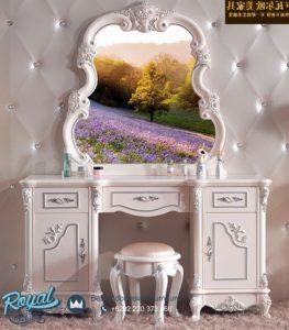 Meja Rias Mewah European Style White Duco Terbaru