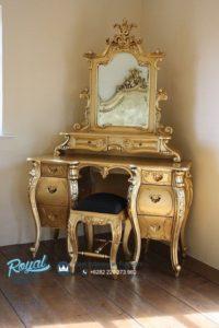 Meja Rias Mewah Rococo Furniture French Ukiran Terbaru