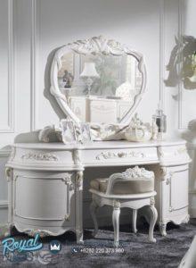 Meja Rias Mewah White Duco Lania Model Terbaru