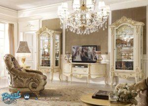 Set Bufet TV Mewah Ukiran Klasik Furniture Mewah Terbaru