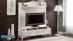 Set Bufet TV Minimalis Mewah Belissa Duvarunitesi Duco Putih Terbaru