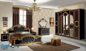 Set Kamar Tidur Barococo Nero Gold Furniture Set Bedroom Mewah Terbaru