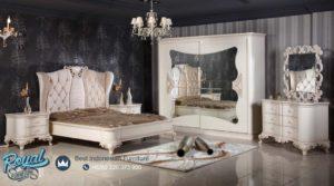 Set Kamar Tidur Mewah Avangrad Royal Bedroom White Furniture Terbaru