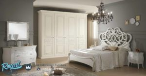 Set Kamar Tidur Mewah Capri White Lumino Design Bedroom Mewah Terbaru