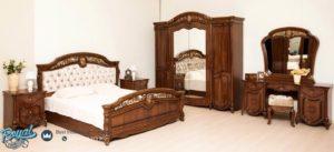 Set Kamar Tidur Mewah Jati Klasik Furniture Bedroom Terbaru